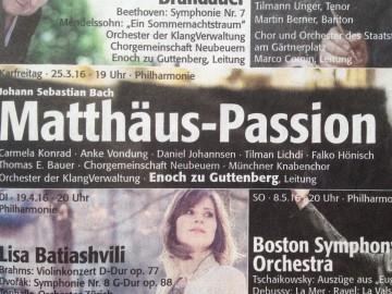 Zweimal Matthäus-Passion in Berlin und München
